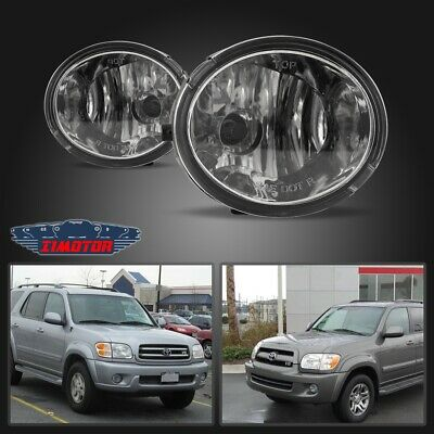 Fit Toyota Sequoia 01-07 Clear Lens Pair Bumper Fog Light Lamp+Wiring+Switch