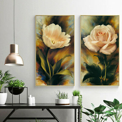 Canvas Oil Prints Painting Flower Modern Wall Art Picture Unframed Home Decor