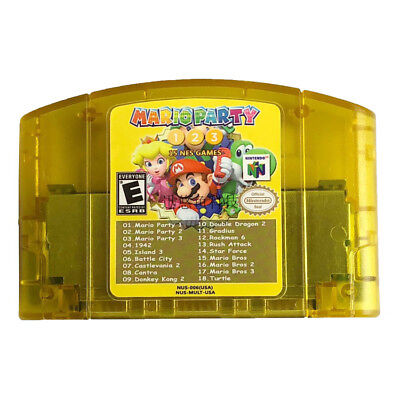 For Nintendo N64 18 in 1 Card Mario Party 1 2 3 Aggregation +15 NEWS US Edition
