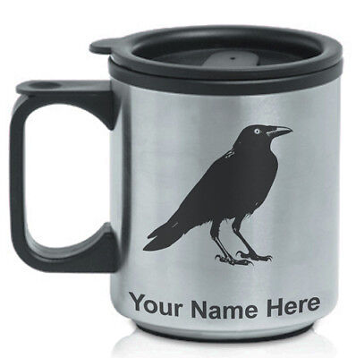 Personalized Custom Coffee Travel Mug - Crow