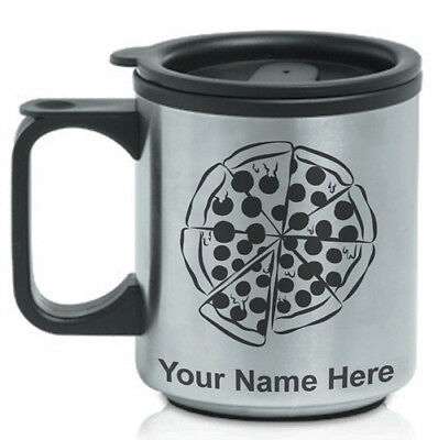 Personalized Custom Coffee Travel Mug - Pizza