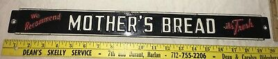 Antique Mother Bread Tin Litho Embossed Shelf Sign Vintage Country Grocery Store