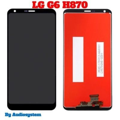 Display Lcd +Touch Screen Per Lg G6 H870 H871 H872 Ls993 Vs998 Vetro Nero