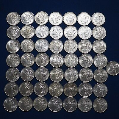 Pre-1921 Morgan Silver Dollars AU-BU Mix Dates Lot of 50 Coins 1878-1904
