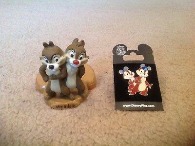 Disney Pin and figure Lot -  Chip and Dale Disneyland Disney world