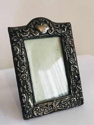 Antique sterling silver miniature picture Frame