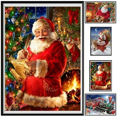 DIY 5D Diamond Painting Kit Full Square Cross Stitch Gift Embroidery Christmas