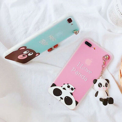 Bronw Bear 3D Doll Cartoon Phone Case Silicone Cover For iPhone X 8 7 6/6S Plus