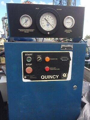 Quincy Rotary Screw Vacuum Pump 25 Hp Great Condition