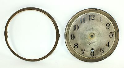 """ANTIQUE SESSIONS 6-1/2"""" CLOCK DIAL PAN, and BEZEL with NO GLASS - DH426"""