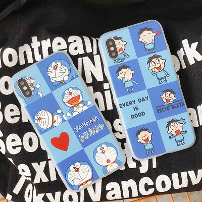 Cartoon Doraemon Protection Silicone TPU Phone Case For iPhone X 8 7 6/6s Plus