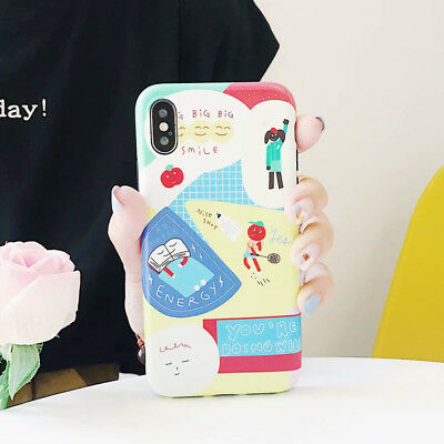 TPU Cartoon Shockproof Phone Case Silicone Cover Back For iPhone X 8 7 6/6S Plus