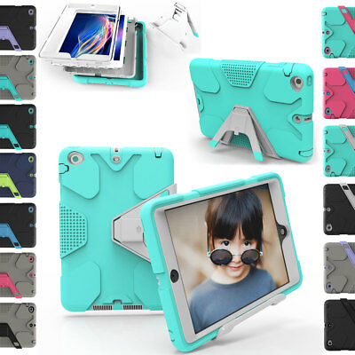 For Apple iPad 2 3 4 Shockproof Rubber Hard Armor TPU Dustproof Armor Case Cover