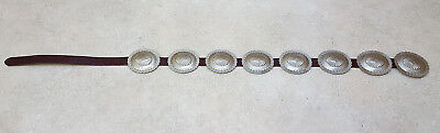 Nice Large 7 German Silver Concho Native American Indian Belt & Concho Buckle