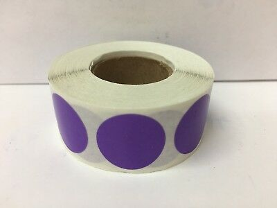 """1/2"""" LAVENDER Circle Color Coded Coding Inventory Warehouse Labels 1000/Roll"""