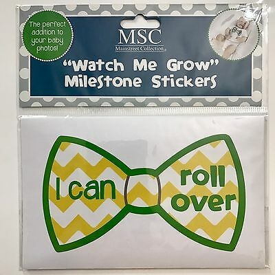 Mainstreet Collection Watch Me Grow Boys Monthly Milestone Baby Stickers BowTie