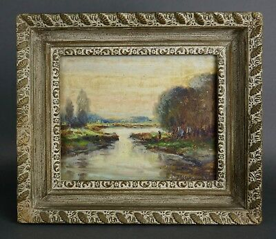 Antique 19th/20th Century Fine IMPRESSIONIST LANDSCAPE Oil Painting Countryside