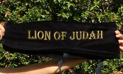 L-XL Lion of Judah SHOFAR BAG Yemenite Kudu blow horn big long chofar case cover