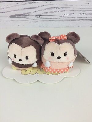 Official Disney Ufufy Plush Pair Mickey Mouse & Minnie Mouse Soft Toys