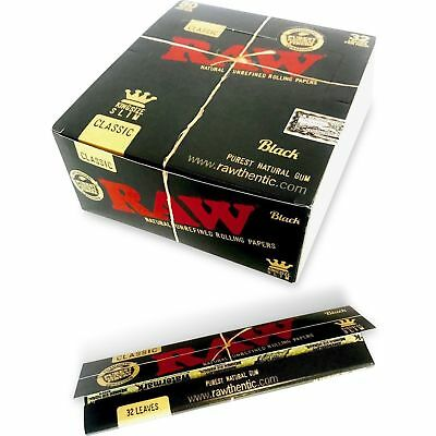 RAW Black Classic King Size Slim - 15 PACKS - Rolling Papers Ultra Thin Pressed