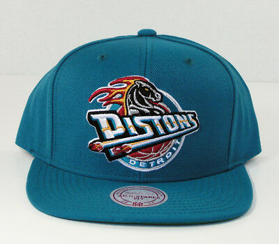 purchase cheap 8648a a2485 ... coupon code for detroit pistons mitchell ness nba flat brim snapback  hat cap new wool blend