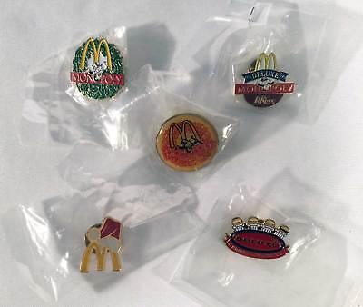 Mcdonalds Lot of 5 Pins Lapel Collectible Holiday Deluxe Monopoly Dr Pepper