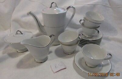 SEYEI JAPAN Wedding Bell  Footed 6 Cups & 6 Saucers Tea Pot and Sugerb./Creamer