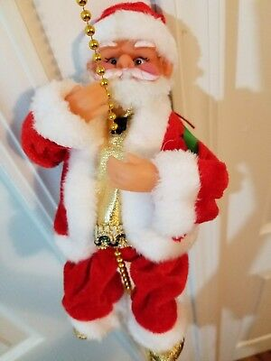 Electric Musical Climbing Santa Claus Christmas Ornament Decoration Figurine