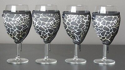 Giraffe wine glass coolers x 4