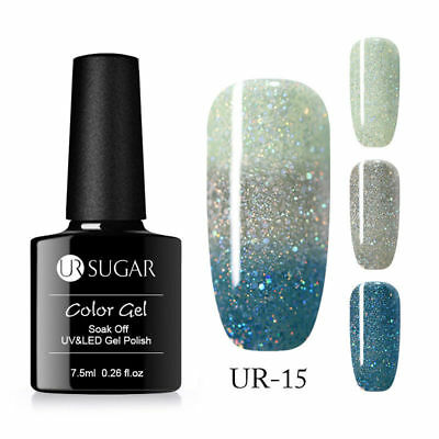UR SUGAR 7.5ml Thermal Color Changing UV Gel Polish Soak Off Nail Varnish #15
