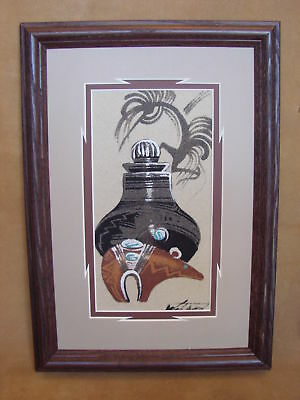 Native American Indian Authentic Navajo Sandpainting by Michael Watchman SP019