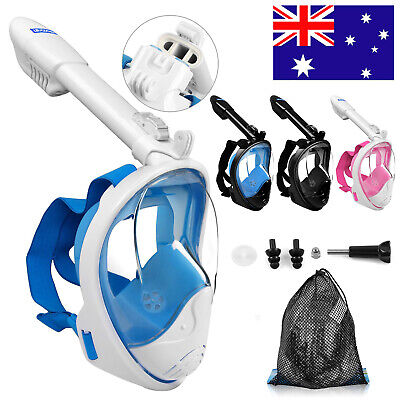 Full Face Diving Snorkel Mask Anti-fog Swimming Goggles Snorkeling Set for Gopro
