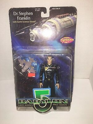 1997 Babylon 5 Dr. Stephen Franklin Figure by Exclusive w/ Earth Science Vessel