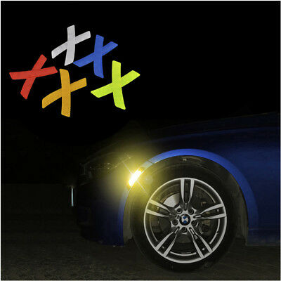 2Pcs Safety Reflective Warning Strip Tape Car Bumper Reflector Stickers Decals F
