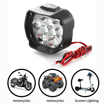 15W 9 LED Motorcycle Headlight Spot Lights Head Lamp LED Front DC 12V Driving US