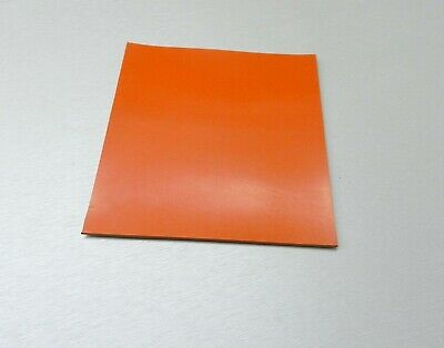 "Silicone Rubber Sheet High Temp Solid Red/Orange Commercial Grade 4"" x 4"" x 1/8"""