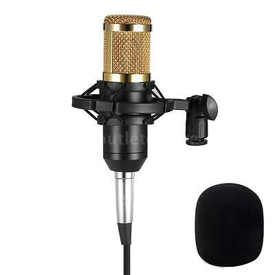 BM800 Audio Studio Condenser Microphone Shock Mount Kit w/3.5mm Audio Cable K4N6
