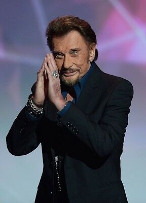 photo 10*15cm 4x6 INCH  JOHNNY HALLYDAY