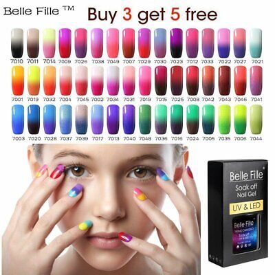 Thermal Color Changing UV Gel Polish Glitter Shimmer with GiftBOX Belle Fille AU