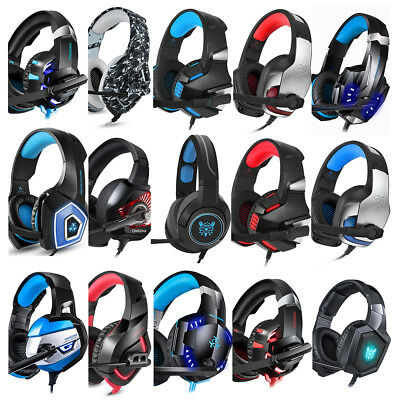 Pro Stereo Gaming Headset Over Ear Headphone With Mic For PC XBOX ONE Computer