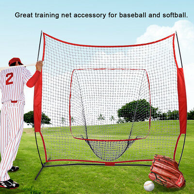 7'x7' Baseball Training Net Softball Pitching Batting Throwing Practice Tool AU