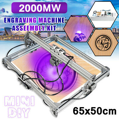 AUS 2000MW 65*50cm Laser Engraving Carving Engraver Logo Carver Printer Cutter