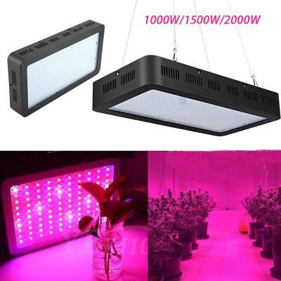 1000W-2000W LED Grow Light Panel Full Spectrum Lamp for Plants Hydro Veg Flower