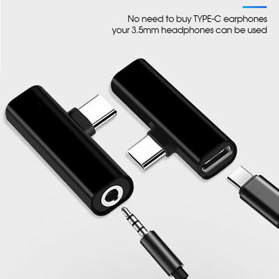 Universal USB-C Type C 3.5mm Aux Jack Audio Adapter Headphone For Huawei Samsung