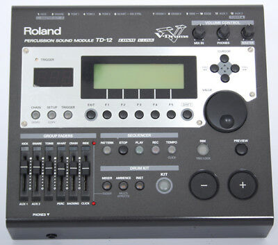 Roland TD-12 Electronic Drum Kit Module/Brain + 5 VEX EXPANSION Packs Excellent