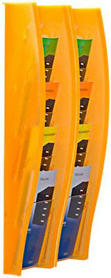 Wandprospekthalter styrodisplay DIN 1/3 A4 2er Set orange