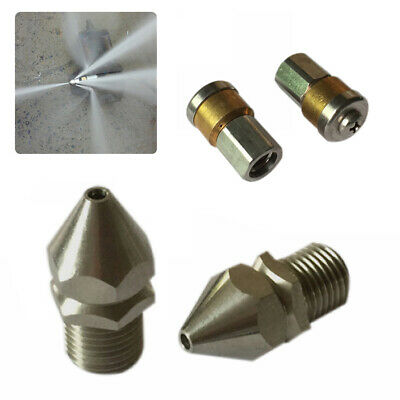 3 Jet / 4 Jet High Pressure Drain Nozzle Washer Sewer Pipe Laser Cleaning Jet