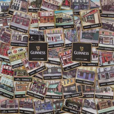 GUINNESS IRISH PUBS BEER MAT COASTERS | Collection of 50