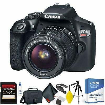 Canon EOS Rebel T6 DSLR Camera with 18-55mm Lens + 64GB Memory Card Bundle018