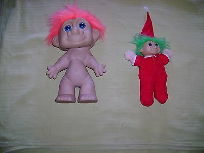 Large 35cm trol dolll and plush body troll doll